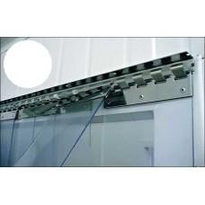 Lamelové clony - PVC závěsy - 200x2mm bílé neprůsvitné PVC pásy typ normál - překrytí na jeden hák - 35% - 3,5cm - cena na bázi m2