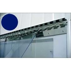 PVC pásy pro lamelové clony - 200x2mm modré neprůsvitné PVC pásy typ normál vyrobené na míru - cena na bázi bm