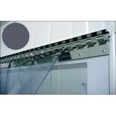 PVC pásy pro lamelové clony - 200x2mm šedé neprůsvitné PVC pásy typ normál vyrobené na míru - cena na bázi bm