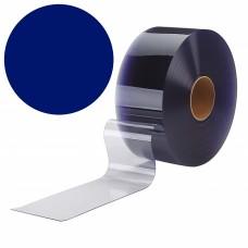 PVC pásy pro lamelové clony - 200x2mm modré neprůsvitné PVC pásy typ normál - 50m kotouče