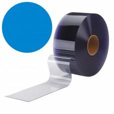 PVC pásy pro lamelové clony - 200x2mm modré průsvitné PVC pásy typ normál - 50m kotouče