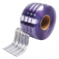PVC pásy pro lamelové clony - 200x2mm průsvitné PVC pásy typ mrazuvzdorné vroubkované - 50m kotouče