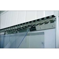 Lamelové clony - PVC závěsy - 200x2mm průsvitné PVC pásy typ normál - překrytí na jeden hák - 35% - 3,5cm - cena na bázi m2