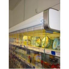 Lamelové clony - PVC závěsy - 200x2mm průsvitné PVC pásy typ normál - bez překrytí - cena na bázi m2