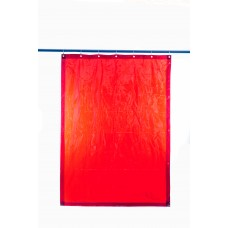 Svařovací zástěny - svářečské závěsy - PVC plachty - PEVECA červené (DIN 4)