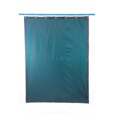 Svařovací zástěny - svářečské závěsy - PVC plachty - PEVECA tmavozelené (DIN 9)