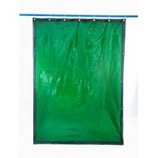 Svařovací zástěny - svářečské závěsy - PVC plachty - PEVECA zelené (DIN 6)