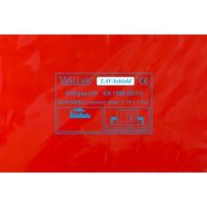 Svařovací zástěny - svářečské závěsy - PVC plachty - WELDAS červené 1,37m x 1,7m