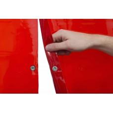 Svařovací zástěny - svářečské závěsy - PVC plachty - WELDAS červené 1,37m x 1,8m